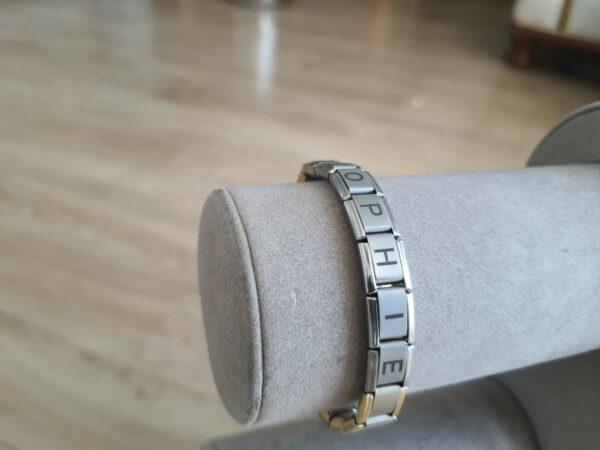 Bracelet italien mate-doré